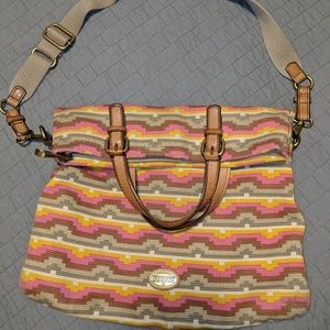 Fossil Explorer Crossbody tote